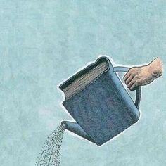 Un libro es como agua fresca e la imaginacion!!