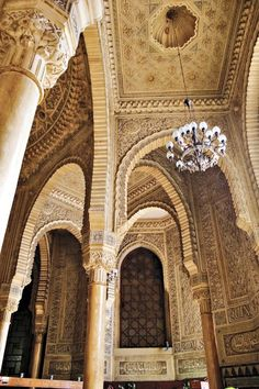 Interior of the Grand Masjid of Algiers, #Algeria Consecrated 1097 with additions in 1324 & 1840 #architecture