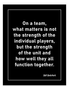 Motivational team quote poster. Inspirational Bill Belichick quote wall art. Ready to frame football decor. Team Motivational Quotes, Team Quotes, Coach Quotes, Motivational Thoughts, Inspirational Wall Art, Football Decor, Patriots Football, Quote Wall, Wall Art Quotes