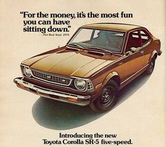 Awesome #vintage #Toyota #Corolla ad from the 1970's #SteetToyota #LetsGoPlaces