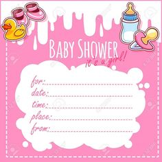 Baby Shower Invitations For Girls Blank
