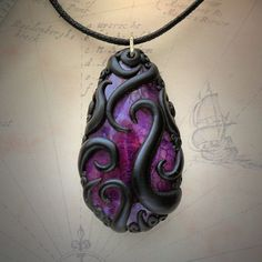Cthulhu Jewellery — My tentacled agate and labradorite necklaces...