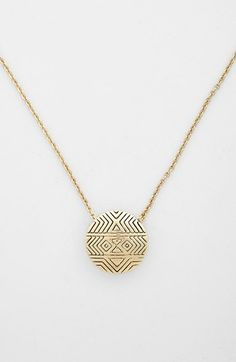 House of Harlow 1960 'Tholos' Engraved Pendant Necklace