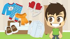 Learn Clothes in Arabic for Kids - تعلم اسماء الملابس باللغة العربية للأ...