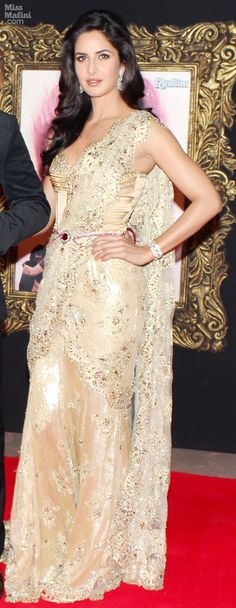 Katrina Kaif - very modern in that gorgeous evening gown