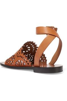 Chloé - Laser-cut Leather Sandals - SALE20 at Checkout for an extra 20% off