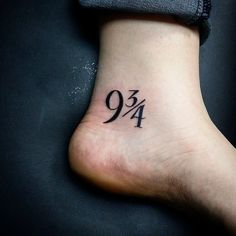 Nine and three quarters tattoo 6
