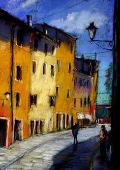 Tarcsay Béla 1952   Hungarian Impressionist Figurative painter