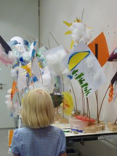 Weather sculptures workshop at the Sainsbury Centre. led by artist Cordelia Spalding.