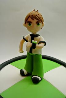 Beautiful Kitchen: Ben 10 Cake for Nicholas' Birthday Fondant Tips, Fondant Tutorial, Ben 10 Birthday, Birthday Cakes, Birthday Ideas, Ben 10 Cake, Ben 10 Party, Marvel Cake, Fondant Toppers