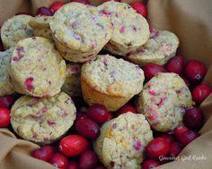 Gourmet Girl Cooks: Cranberry Orange Walnut Mini-Muffins