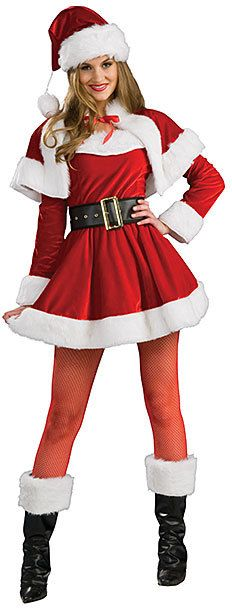 Red & White Santa's Helper Costume Set - Women