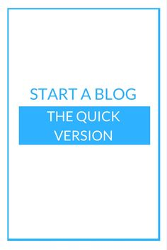 So you want to start a blog, whohoooo thats brilliant news. Here is a the quick over view version of starting a blog.