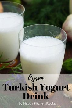 Try this super refreshing and healthy Ayran (Turkish yogurt drink) recipe ready in 5 minutes with only 3 simple ingredients. It's a great thirst quencher and is both healthy and hydrating! Vegetarian Main Course, Vegetarian Comfort Food, Best Vegetarian Recipes, Vegan Dinner Recipes, Yogurt Drink Recipe, Turkish Yogurt, Happy Kitchen, Recipe Ready, Drinks