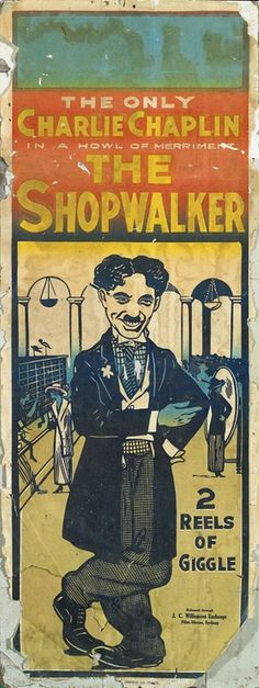 Charlie Chaplin, 'The Shopwalker', Mutual film, 1916, long… - Movie Posters & Daybills - Printed Material - Carter's Price Guide to Antiques and Collectables