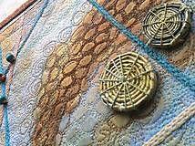 Obrazy - Art quilt-cesta na druhý breh - 4897290_