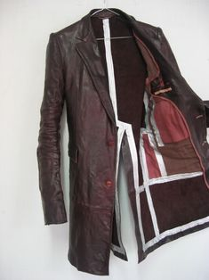 bostonroll: Carol Christian Poell taped seam long coat in object dyed (calf?) leather