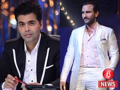 Saif Ali Khan will co-host IIFA Awards 2017 with Karan Johar. While, Varun Dhawan will also join them for a segment. Bollywood Updates, Bollywood News, Saif Ali Khan, Karan Johar, Awards 2017, Varun Dhawan, Bubble, Suit Jacket, Play