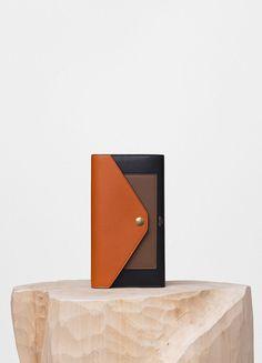 Pocket Trifolded Multifunction in Multicolour Shiny Calfskin - Céline