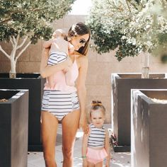 """303 Likes, 11 Comments - Bethany Menzel (@bethanymenzel) on Instagram: """"Because I'm that mom, can't resist those matching @kortnijeane suits  (they make the best high…"""""""