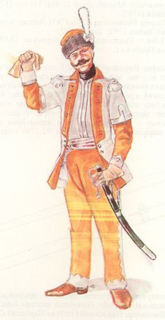 The Polish Army in 1789-1794 years: Officer of the 1st Regiment Lithuanian of the Vangard (Przedniej Straży). 1776-1785.