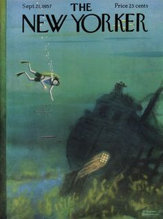 Charles Addams : Cover art for The New Yorker 1701 - 21 September 1957 The New Yorker, New Yorker Covers, Book And Magazine, Magazine Art, Magazine Covers, Old Magazines, Vintage Magazines, Charles Addams, New Yorker Cartoons