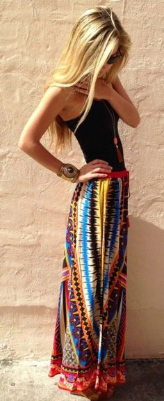 101 Boho Chic Fashion Outfits für den Hipster Look - Neue Mode Trennd Boho Outfits, Summer Outfits, Casual Outfits, Fashion Outfits, Summer Dresses, Womens Fashion, Fashion Trends, Summer Maxi, Fashion 2015