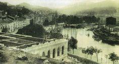Bilbao, construction of the city hall, 1890