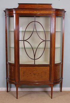 Edwardian Antique Display Cabinet - Antiques Atlas