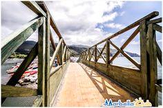 Il famoso ponticello che permette di raggiungere la #spiaggia del Marbella club a #Palinuro.