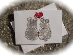 Sweet bunny love card for Valentine's Day.
