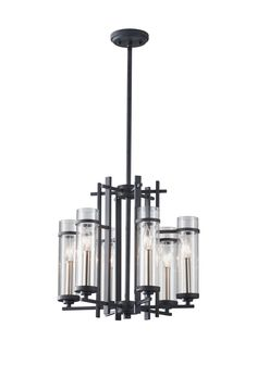 Six Light Single Tier Chandelier