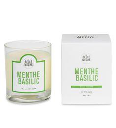 Bougie parfumée - Menthe et Basilic - La Belle Mèche
