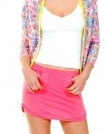 Contrast pocket mini skirt in Blush by Rebecca Michaels
