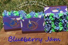 Blueberry Jam Soap Bars by SweetSoftSkin on Etsy