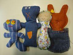 bonecos de pano reciclagem