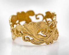 Weddings Ring for Women -14k gold Women Wedding Band - Fine Jewelry Ring - Designer Vintage - Free Shipping