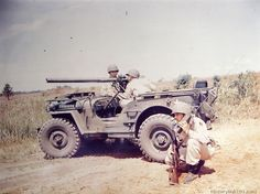 Royalty Free Pictures of World War II . Willys Jeep MB with a 57mm recoil less rifle.