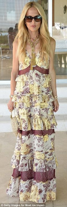 Flower power: Rachel Zoe andEmily Ratajkowski attendedThe Zoe Report and DVF brunch at the L'Horizon Resort in Palm Springs during the Coachella Music Festival on Saturday