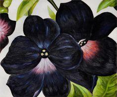 Black and Purple Petunias - Georgia O'Keeffe