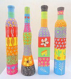 Botellas de vidrio decoradas para embellecer tu hogar | Todas las imágenes