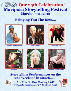 A storytelling festival in the Mariposa and Yosemite National Park, CA.