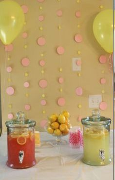 Sweet lemonade for the shower