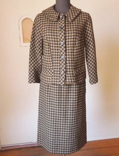 CLASSIC Vintage 60's Skirt Suit Teddy Bear by momodeluxevintage