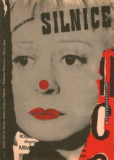 La Strada (1954). Czech poster, designed by Jiří Balcar.