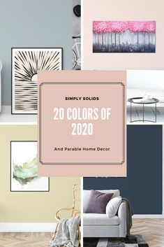 Check out 20 beautiful colors of the year for 2020 by leading paint manufacturers and color experts as well as coordinating home decor to finish of your decorating projects. #2020colors #2020coloroftheyear #2020coloursoftheyear #2020 #homedecorating #homedecor #homedecoratingtrends #trendinghomedecor #homedecoratingideas