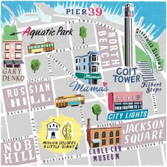 I love this cute San Francisco map Created for National