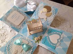 Handmade Christening / Baptism Exploding box by scrapproject2014