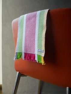 Hearts  Handwoven Twill Scarf by MEMEtextiles on Etsy