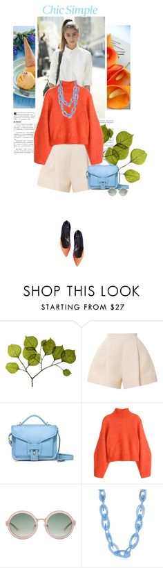 """""""[313] - Fresh & Simple"""" by ginevra-18 ❤ liked on Polyvore featuring Dot & Bo, Delpozo, Opening Ceremony, H&M, 3.1 Phillip Lim, Kenneth Jay Lane, shorts, polyvoreeditorial and ginevra18"""